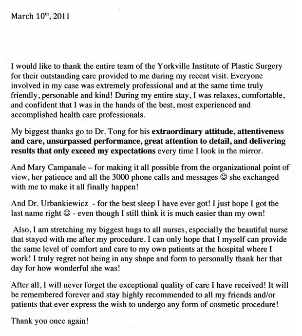 we are yorkville institute of plastic surgery - Plastic Surgery Nurse Sample Resume
